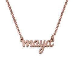 Collar con Nombre Caligrafía chapado en oro rosa de 18K product photo