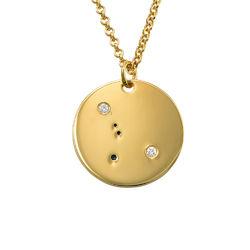 Collar Constelación de Cáncer con Diamantes Chapado en Oro foto de producto