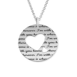 Collar círculo de amor en plata product photo