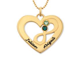 Collar infinito de corazón chapado en oro foto de producto