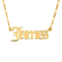 Collar con nombre gótico personalizado en oro product photo