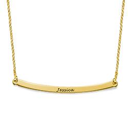 Collar de barra curvado personalizado en chapa de oro de 18K product photo