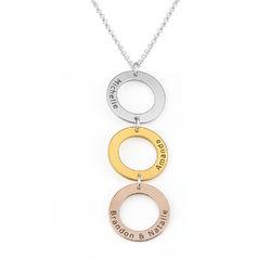 Collar Personalizado con 3 Circulos Verticales en Tricolor product photo
