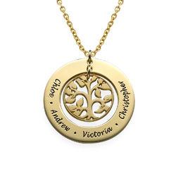 Árbol de la Familia chapado en Oro foto de producto