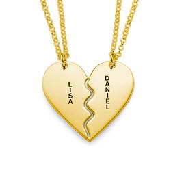 Collar Personalizado Chapado en Oro con Corazón Divisible product photo