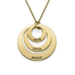 Joyería para Mamá-Collar de 3 discos chapado en oro de 18k product photo