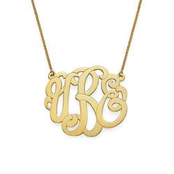 Collar de Monograma Premium en Chapado en oro product photo