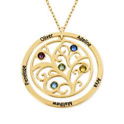Collar con Árbol de la vida con Piedras del Zodiaco en Oro de 10K product photo