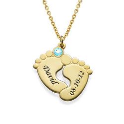 Collar de Piecitos Personalizados chapados en oro foto de producto