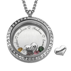 Medallón grabado con charms para Mamá o Abuela product photo