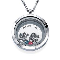 Medallón para Mamá con Encantos de Hijos foto de producto