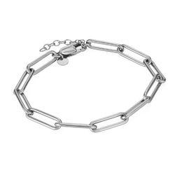 Pulsera de eslabones de cadena en plata de ley foto de producto