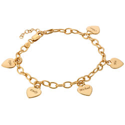 Pulsera de Corazones Personalizable chapado en oro 18k product photo