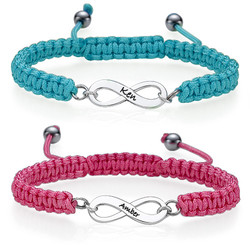 Set de pulsera para parejas Infinito product photo