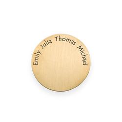 Placa para Medallón Flotante – Disco con Nombres Grabados Chapado en product photo