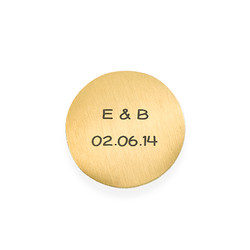 Placa para Medallón Flotante – Disco Chapado en Oro Grabado product photo