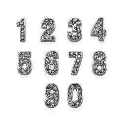 Encantos Números con Diamantes de Fantasía para Medallón Flotante foto de producto