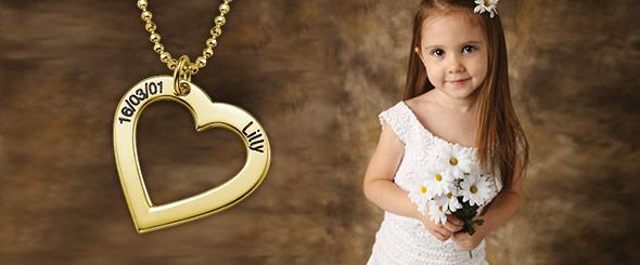 Joyería personalizada para niñas floristas