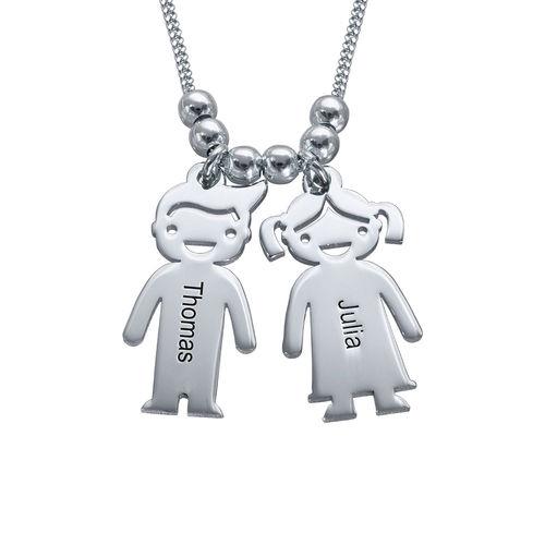 Nombre Personalizado Niños Niños madre Grabado Collar Regalo Joyas De Plata