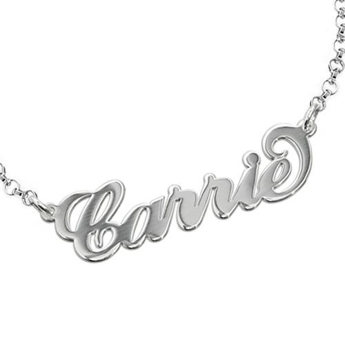 b1401ab1ed5c Pulsera de plata estilo Carrie con Nombre