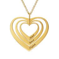 42bd57ff48db Collar de Corazones de la Familia Chapado en Oro
