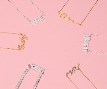 Descubre tu collar con nombre en distintos materiales
