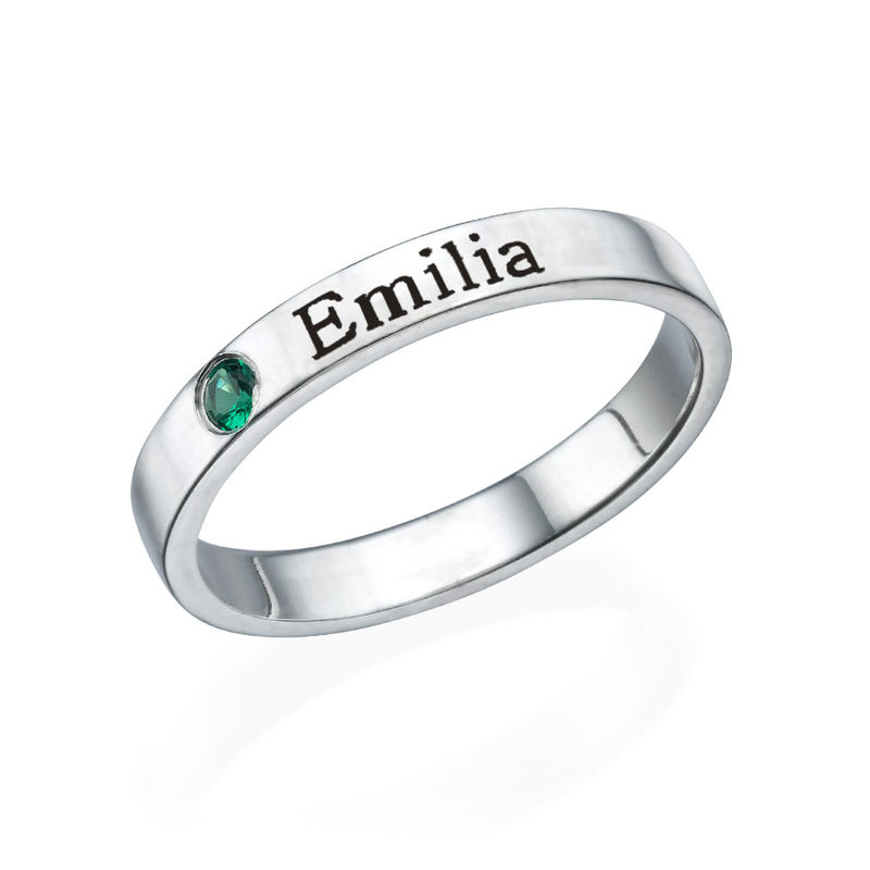 Naam ring met één steen