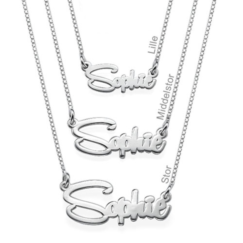 Say My Name Ketting in 925 Zilver - 1