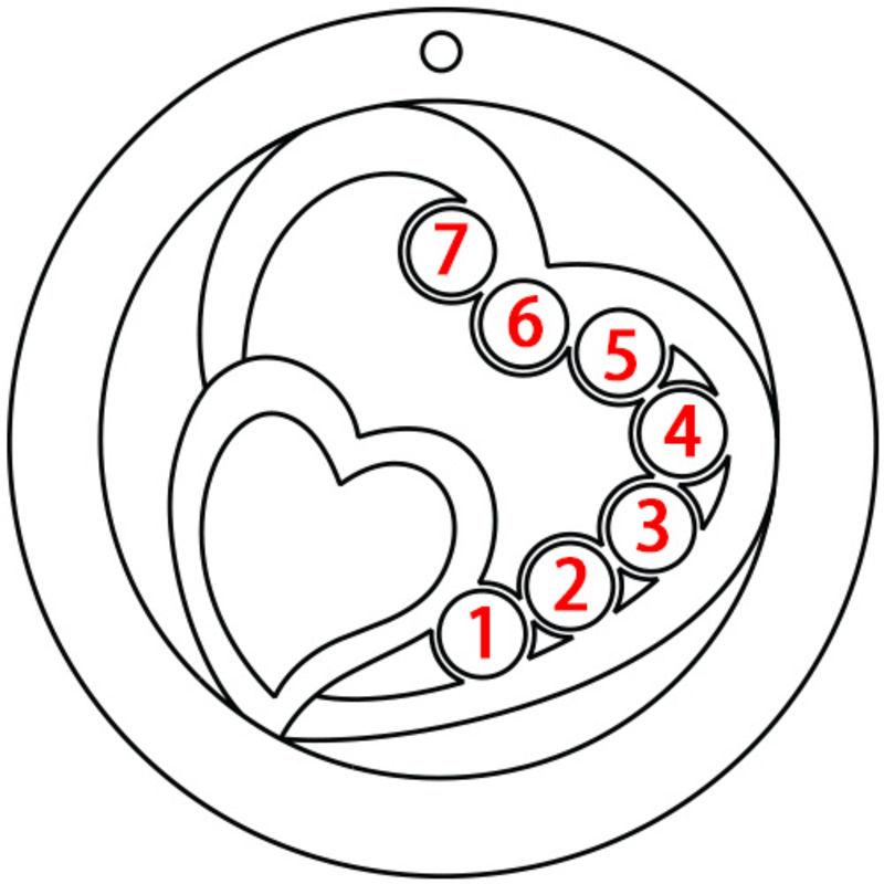 Harten in Cirkel Geboortesteen Mama Ketting in 925 Zilver - 5