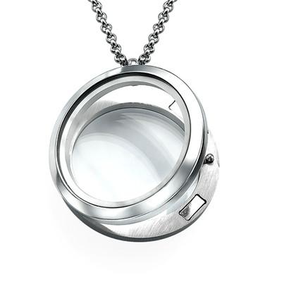 Zilverkleurige Ronde Locket - 1