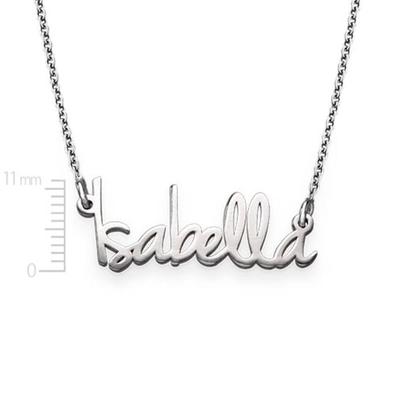 Kleine naamketting voor dames in extra versterkt zilver