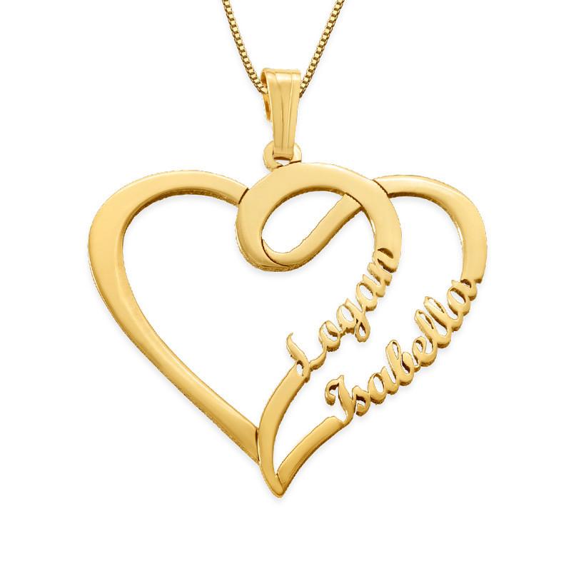 14k Gouden Koppel Ketting met hartje uit de Yours Truly-collectie