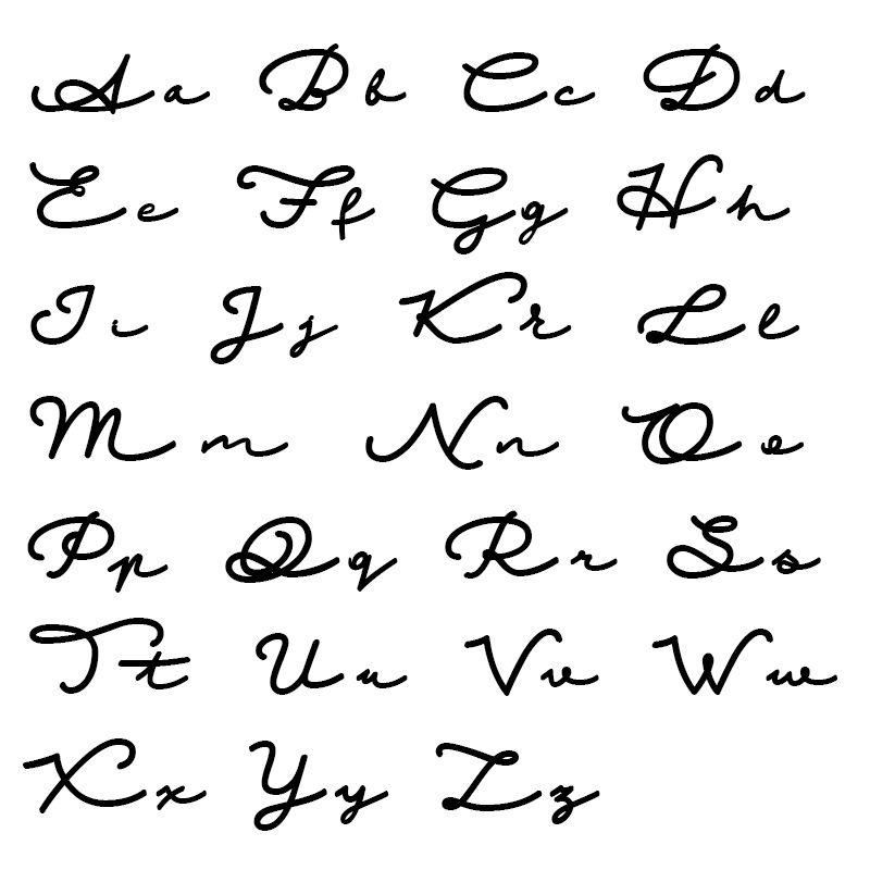 Vergulde naamketting in Signatuurstijl - 6