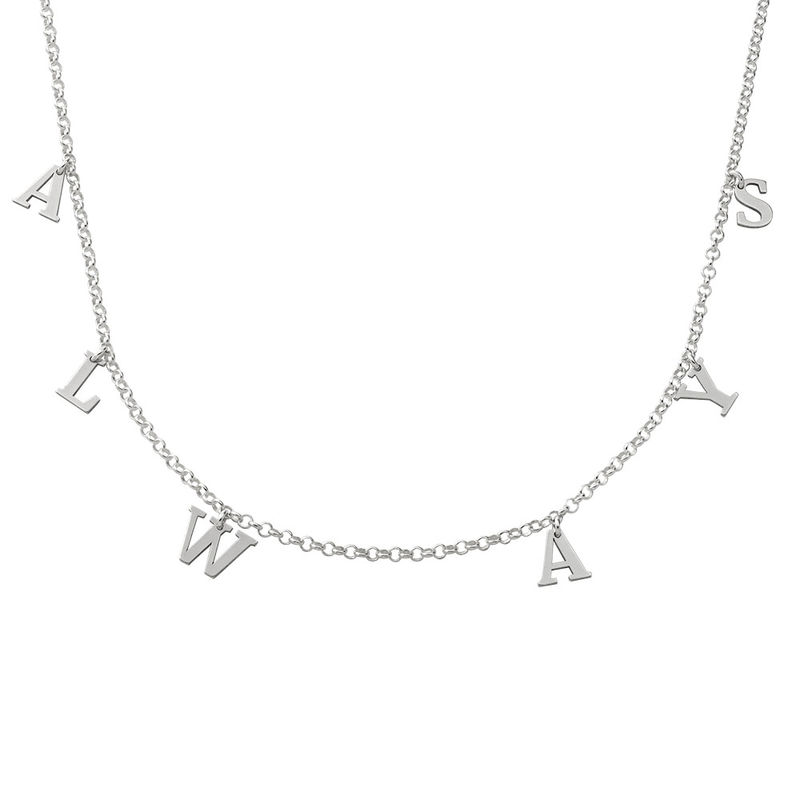 Sterling Zilveren Naam Chokerketting - 1
