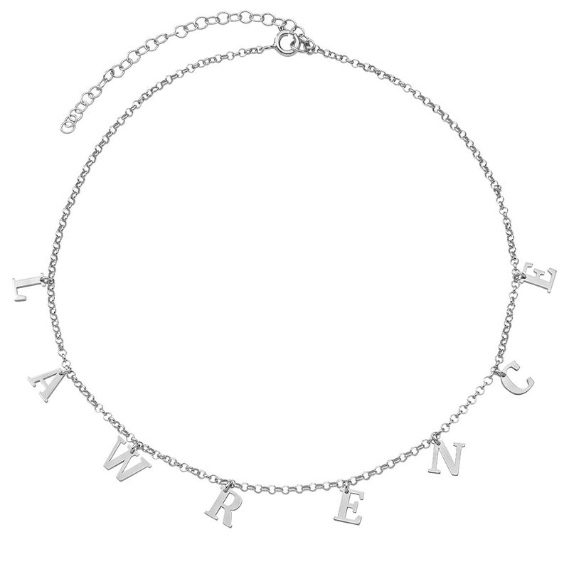 Sterling Zilveren Naam Chokerketting - 2