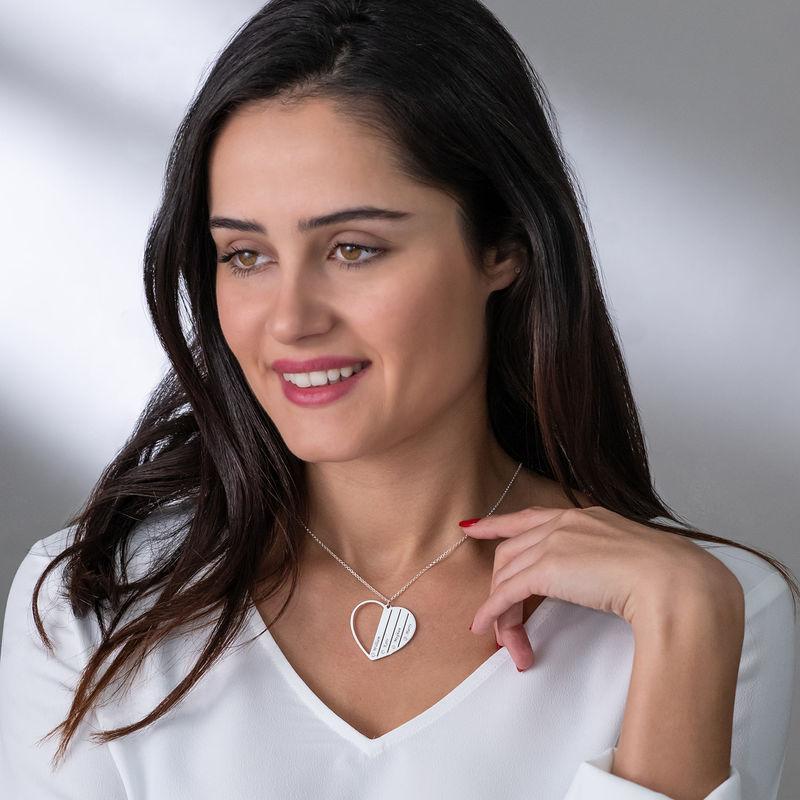 Zilveren Mama ketting met diamanten - 2