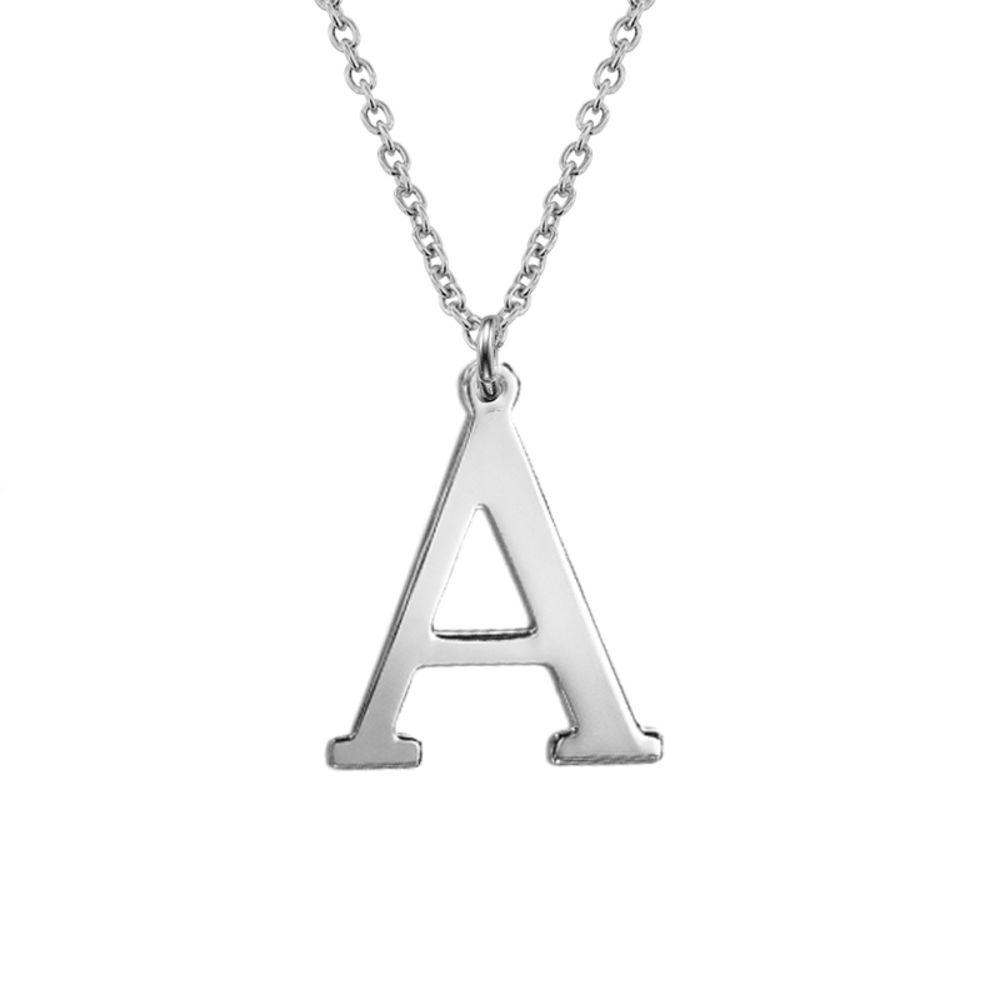 Zilveren (0.925) 1 tot 2 Initialen Ketting