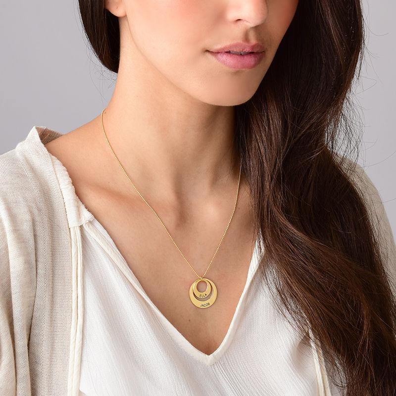 Mama sieraden - 10k gouden ketting met rondje - 5
