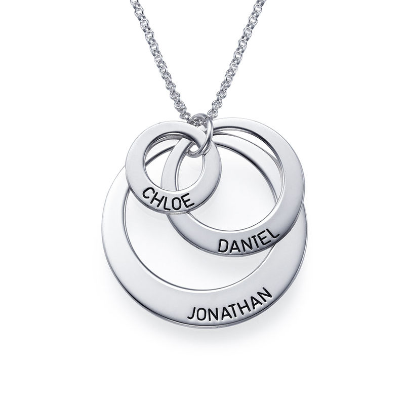 Drie Disc Mama Ketting in 925 Zilver - 1