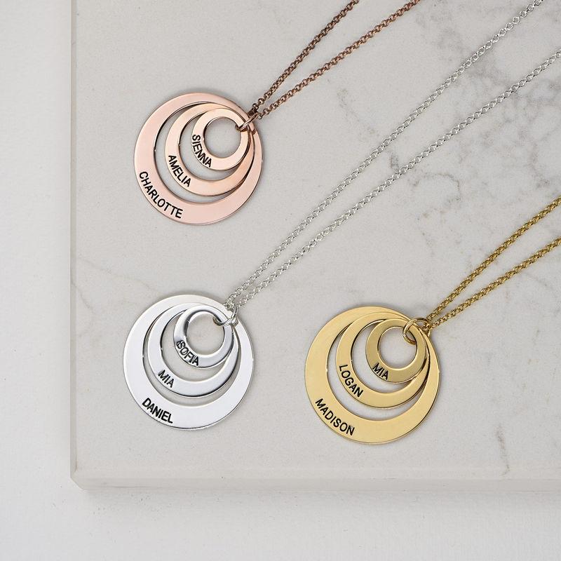Mama sieraden - ketting met drie rondjes in Goud Verguld Vermeil - 3