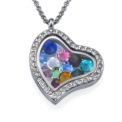 Floating Locket met Geboortestenen