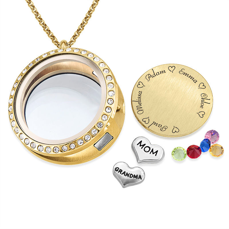 Floating Locket voor Mama's en Oma's in Goudkleur - 1