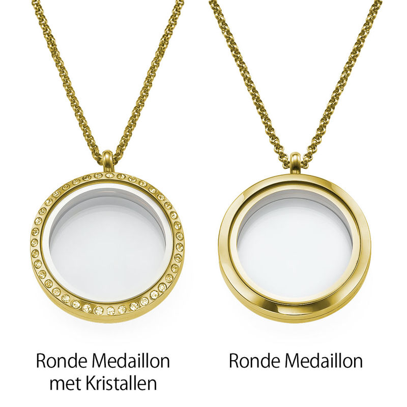 Floating Locket voor Mama's en Oma's in Goudkleur - 2