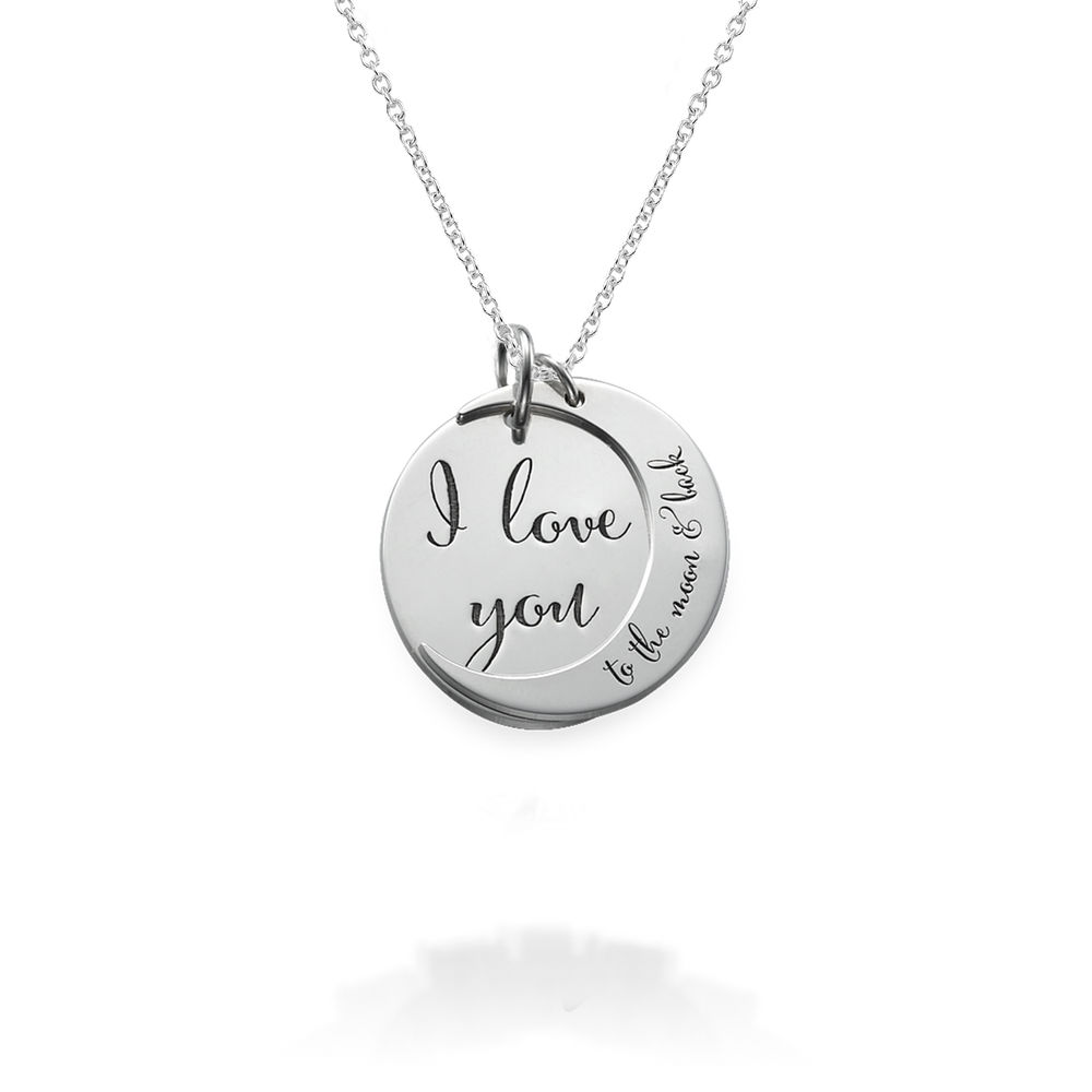 I Love You to the Moon and Back Ketting in 925 Zilver