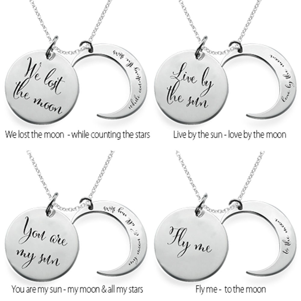 I Love You to the Moon and Back Ketting in 925 Zilver - 2