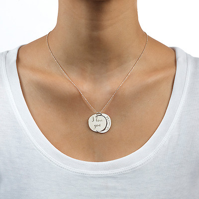 I Love You to the Moon and Back Ketting in 925 Zilver - 3