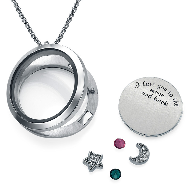 To the Moon and Back Floating Locket - 1