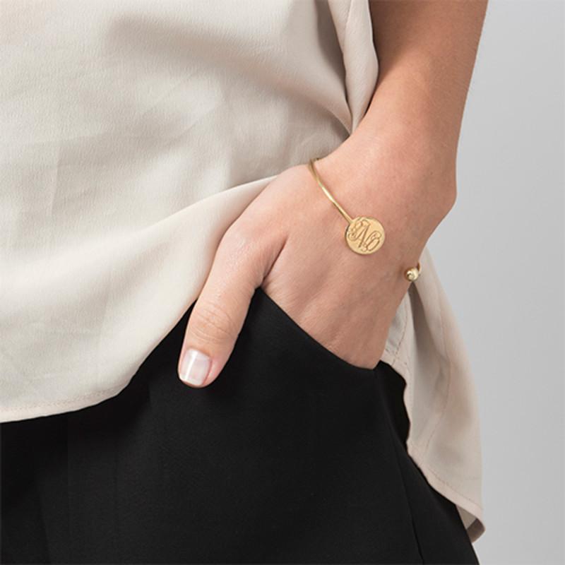 Monogram Bangle Armband in Goudkleur - Verstelbaar - 2