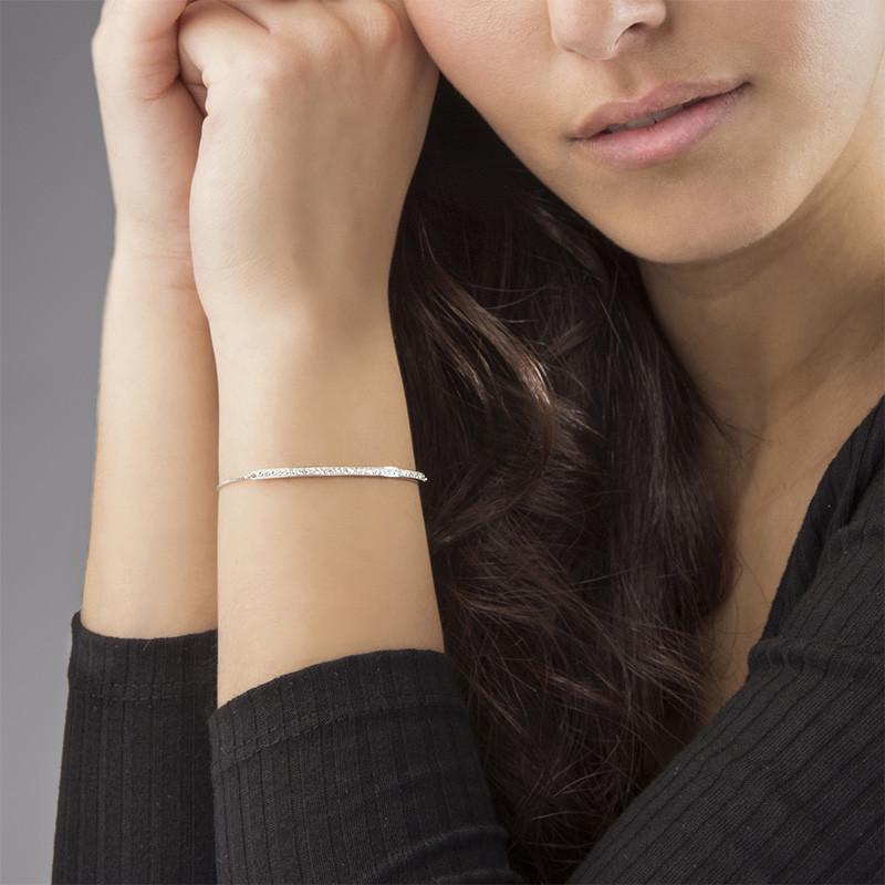 Verstelbare bar armband met Zirkonia - 2