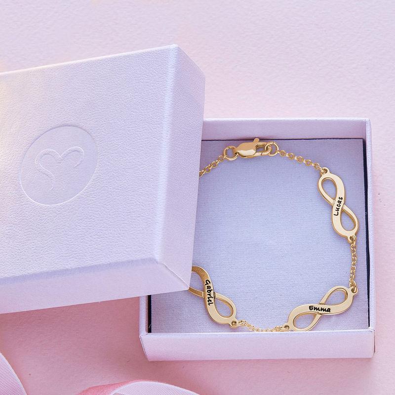 Meervoudige Infinity armband in Goud Verguld Vermeil - 5